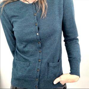 Banana Republic Sz S teal blue cardigan sweater